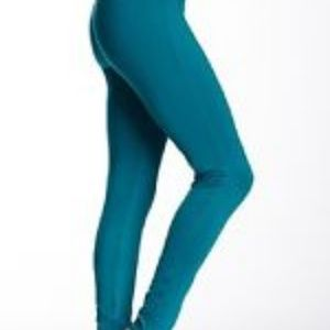 Studio by Capezio Teal Footed Leggings